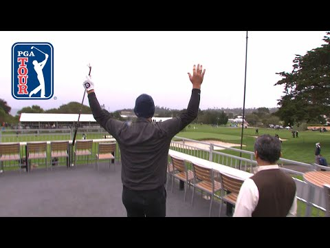 Tony Romo sticks it close from hospitality tent at AT&T Pebble Beach 2019