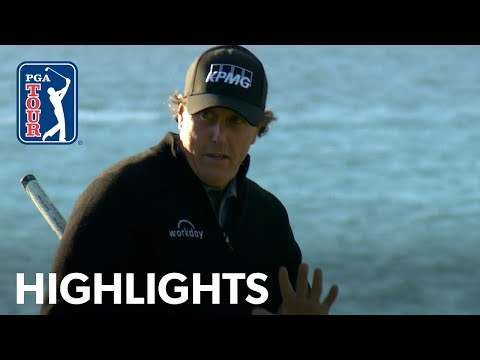 Phil Mickelson's Round 4 highlights from AT&T Pebble Beach 2019