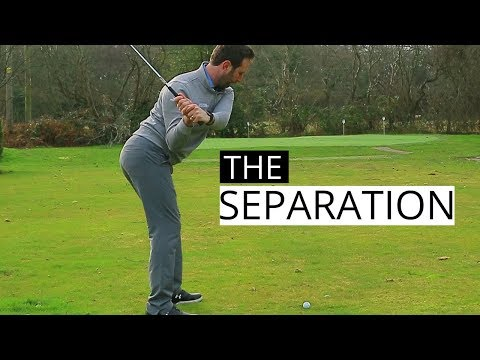 BASIC GOLF SWING TIPS ON HOW TO CREATE A SEPARATION