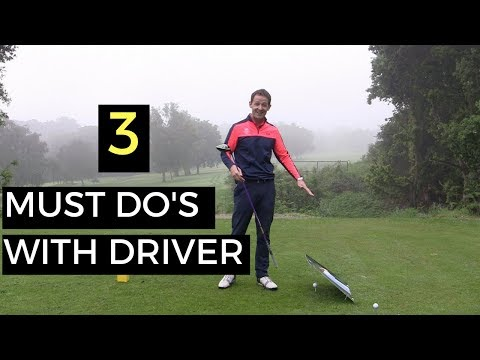 3 MUST DO'S WITH YOUR DRIVER – WITH INCREDIBLE DRILL