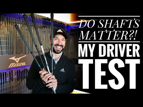 DO GOLF SHAFTS MATTER?! My Driver Test Results