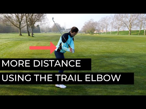 TRAIL ELBOW LEADS THE WAY TO MORE DISTANCE IN THE GOLF SWING