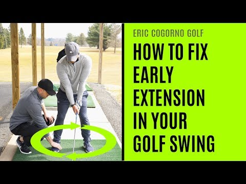 GOLF: How To Fix Early Extension In Your Golf Swing – Golf Lesson