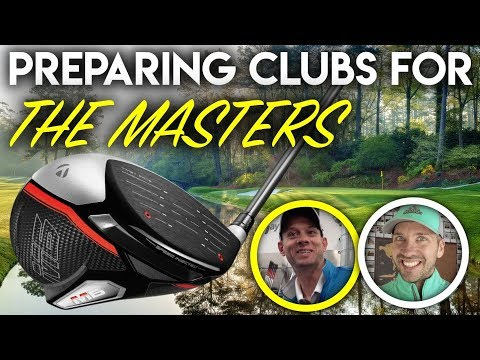 Preparing golf clubs for THE MASTERS!