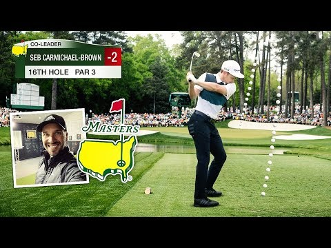WE PLAYED AUGUSTA NATIONAL!!! 15th, 16th & 18th Hole Challenge VS Peter Finch! Best simulator ever!!
