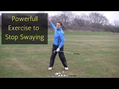 STOP SWAYING OR SLIDING IN THE GOLF SWING