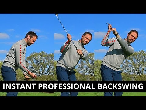 HOW TO USE YOUR RIGHT ELBOW TO GET A PROFESSIONAL BACKSWING