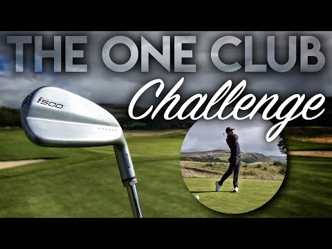 ONE CLUB CHALLENGE…it almost BROKE ME! Gleneagles PGA Course