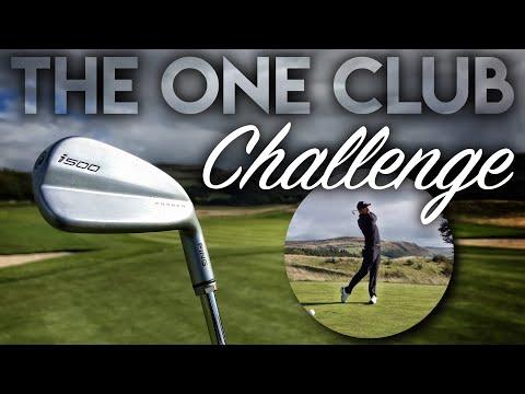 ONE CLUB CHALLENGE…it almost BROKE ME! Gleneagles PGA Course