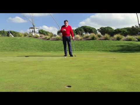 Tip for those slippery downhill putts.
