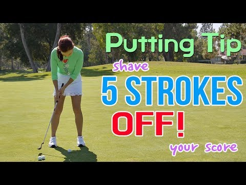 Use this Putting Tip & Shave 5 Strokes Off | Golf with Aimee