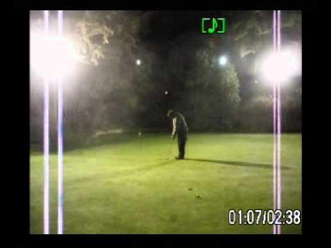 ALEX PUTTING DOWNHILL AT NIGHT