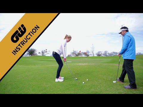 Coaching Anna: Chipping from uphill lies