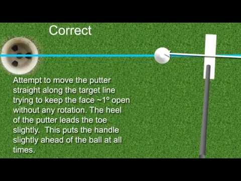 How to putt correctly