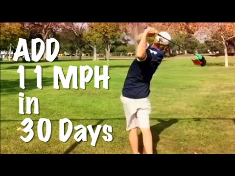 Golf Training Aid: Add 11mph club head speed