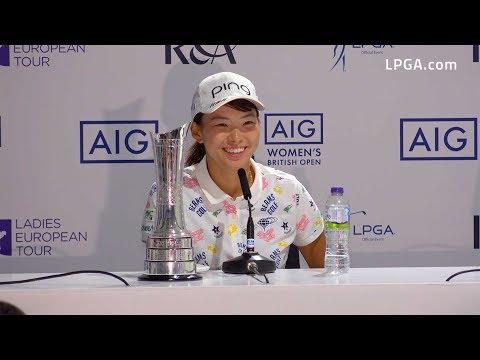 Hinako Shibuno Victorious at the 2019 AIG Women's British Open    チャンピオン