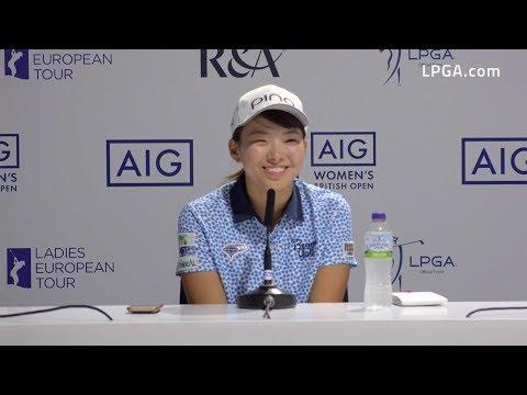 Hinako Shibuno Cards Third Round 67 and Leads the 2019 AIG Women's British Open