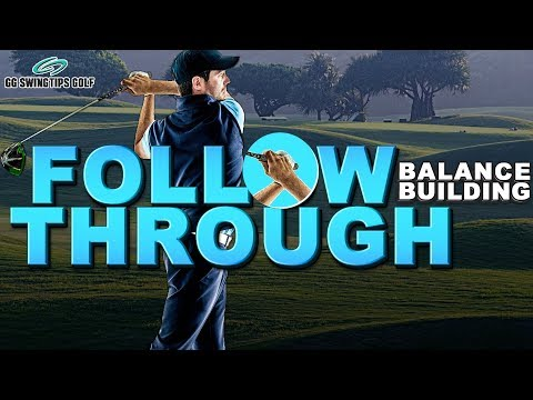 Balance Building Golf Swing Follow Through Pose
