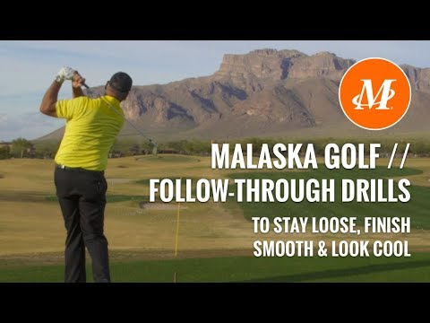 Malaska Golf // Swing Drill to Keep Loose (and Look Cool) Finishing Your Golf Swing