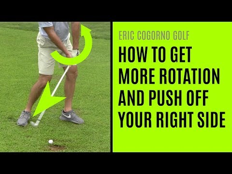GOLF: How To Get More Rotation And Push Off Your Right Side