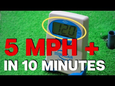 HOW I INCREASED MY CLUB HEAD SPEED IN 10 MINUTES