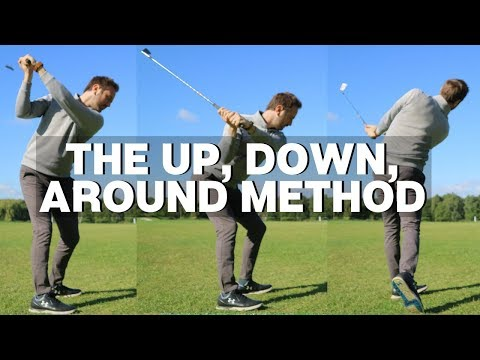 THE UP, DOWN AND AROUND GOLF SWING METHOD