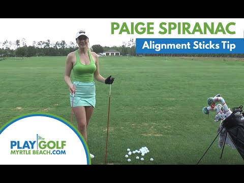 Paige Spiranac: Alignment Sticks Golf Tip