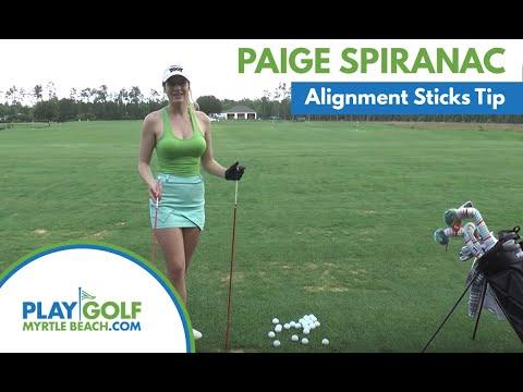 Paige Spiranac: Alignment Sticks Golf Tip