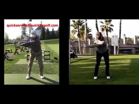 Golf swing analysis on the down swing.
