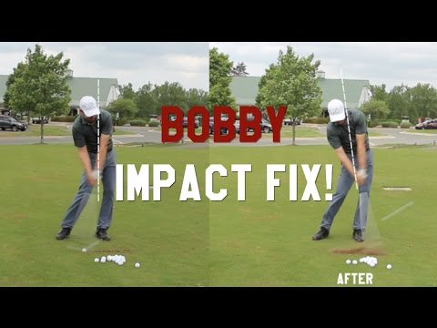 How to improve your Impact postion in 1 swing with Bobby Lopez, PGA Shaft Lean!