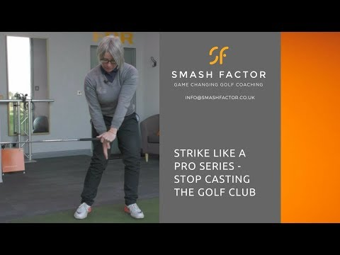 Golf down swing & impact position of a golf professional with this simple drill