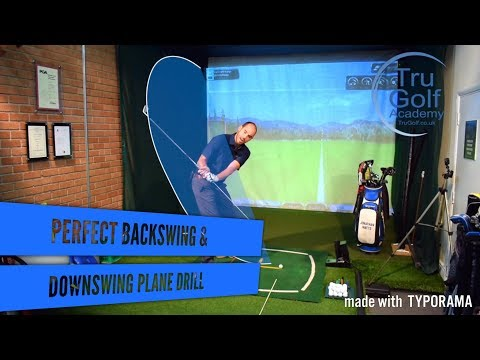 PERFECT BACKSWING & DOWNSWING PLANE DRILL