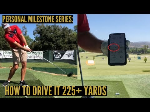 Personal Milestones:  How to Drive a Golf Ball 225+ Yards