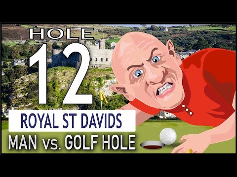 Man Vs Golf Hole – Royal st davids, Harlech