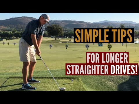 Simple Golf Tips for Longer Straighter Drives