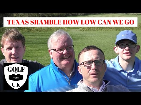 GOLF COURSE VLOG TEXAS SCRAMBLE .HOW LOW CAN WE SHOOT
