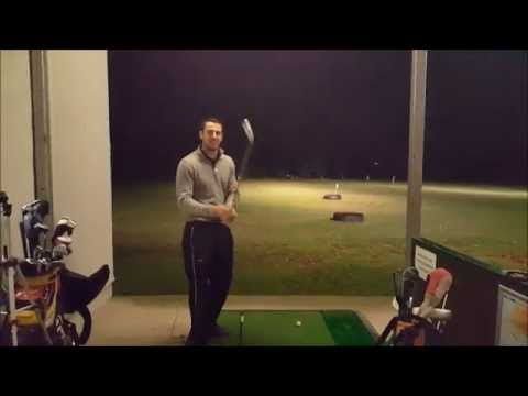 Luke Murray, typical Driving Range practice at North Wales Golf Range, St.Asaph