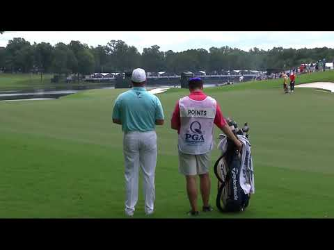 Mic'd Up: Points and caddie discuss approach shot on No. 16