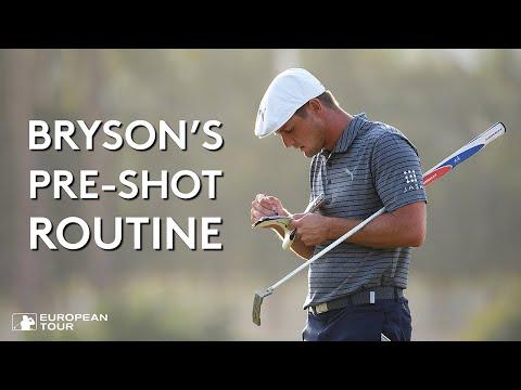 Bryson DeChambeau's Pre-Shot Routine (with Subtitles)