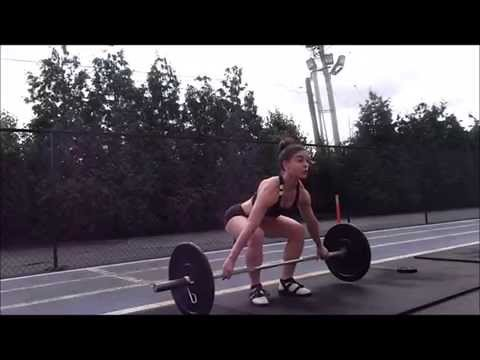 Charlie Brooke olympic weightlifting practice