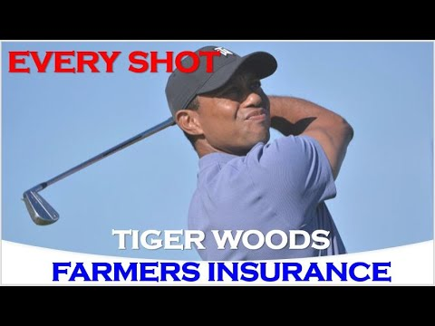 Tiger Woods Every Shots from 1st Round At Farmers Insurance 2020 -Without Hole (1,5,9,13,17)