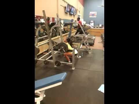 Charlie Brooke: Squats 140lbs x 5 reps