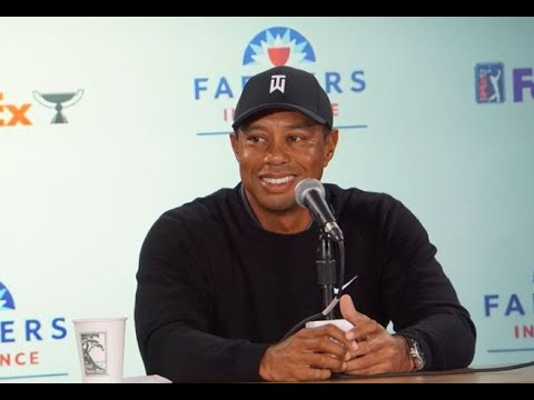 Tiger Woods Press Conference At Farmers Insurance  Open 2020
