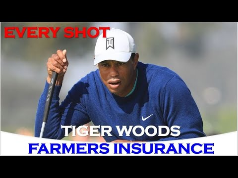 Tiger Woods Every Shot from 3rd Round At Farmers Insurance Open 2020 without hole (1,3,4,6,9,18)