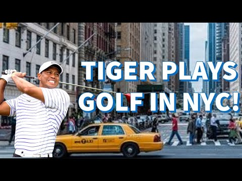 Tiger Woods Plays Golf in New York City