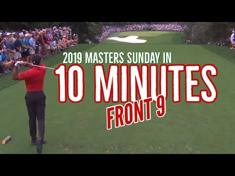 Tiger Woods 2019 Masters Final Round – Front 9