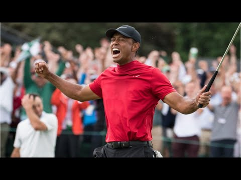 Tiger Woods Celebrates His Masters Championship