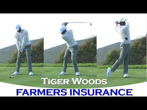 Tiger Woods' Beautiful Driver Swing from Farmers Insurance Open 2020