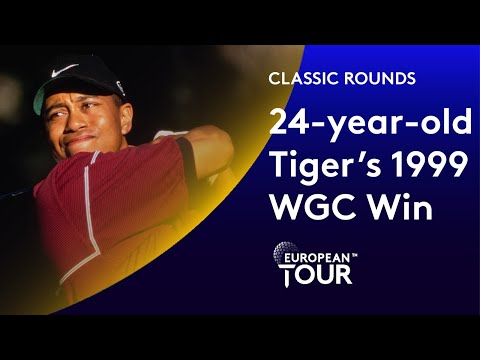 24-year-old Tiger Woods' first ever European WGC | Classic Round Highlights