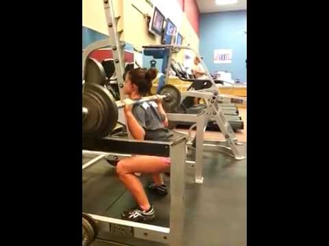 Charlie Brooke: Back Squats 130lbs x 5 reps